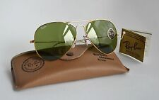 Vintage original Ray Ban B & l estados unidos aviator Green glasses,! nuevo!