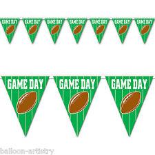 12ft American Football Game Day Partido Verde Banderín Estandarte EMPAVESADO Decoración