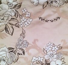 DESIGNERS GUILD Wharton Floral Silk Taupe Black White Embroidered Remnant New
