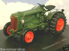 SUPERB U/H HACHETTE DIECAST 1/43 1951 HURLIMANN H12 TRACTOR IN GREEN & RED TR66