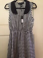New Kim Kardashian Black Dress Large L Black & White Checker Sleeveless Medium M