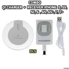 COMBO QI Wireless Charger Receiver Adapter Apple Iphone 5 5S, 5C, 6, 6S 6+, 7 7+