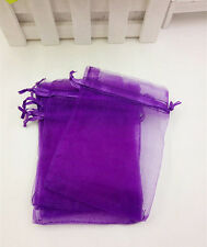 10pcs Organza Gift Bags Wedding Christmas Party Packaging Pouches gift (purple)