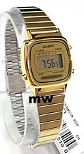 Casio LA670 LA670WGA Ladies Gold Digital Retro Vintage Womens Watch LA-670WGA-9D
