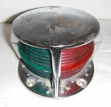 "VINTAGE NAVIGATION BOW RED & GREEN 6""x 4-1/2""LIGHT ac6350-02 BULB 1004 FW BOAT"