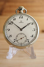Vintage Omega Open Face Pocket Watch 15 Jewels cal. 40.6L.T2.15P  Swiss 1936