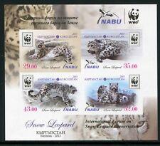 KIRGISIEN KYRGYZSTAN 2013 Schneeleopard Snow Leopard WWF IMPERF UNGEZÄHNT ** MNH