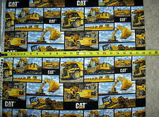 Cat Building Patchwork Blocks Bulldozer Excavator Dump Truck 10102 pc fabric