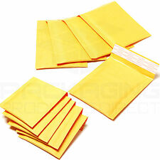 100 x Gold Bubble Lined Padded Envelopes Bags 90x145mm PP1