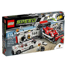 LEGO Speed Champions Porsche 919 Hybrid and 917K Pit Lane Set 75875 NEW