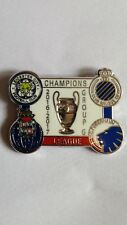 LEICESTER CITY FC,BRUGGE PORTO AND FC KOBENHAVIN CHAMPIONS LEAGUE GROUP G BADGE