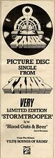 1/5/1982Pg13 Picture Disc Single Advert 15x5 Tank, Stromtrooper