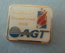 """""""March of Champions"""" AGT 1995 Olympic Torch Lapel Pin"""
