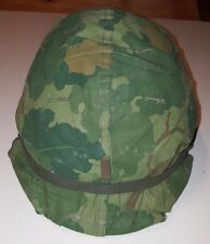 Vietnam Era US Army Military Issue M1 Helmet w/ Liner and Camouflage Cover