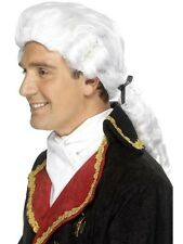 Unisex White Court Wig Judicial Barrister Legal Lawyer Accessory Period Drama