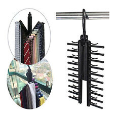Adjustable 360° Rotating 20 Tie Belt Scarf Compact Hanger Rack Holder Organiser