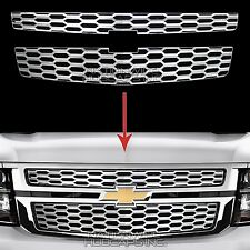 2015-17 Chevy Tahoe Suburban CHROME Snap On Grille Overlays Grill Covers Inserts
