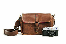 "ONA ""The Bowery for Leica"" Cognac Leather Camera Bag -  Handcrafted excellence"