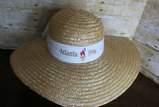 RARE Vintage 1996 Olympics Ladies Straw Sun Hat 96 Atlanta Olympic Games NWT NOS