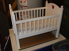 American Girl Bitty Baby Crib, Pink Heart, Retired