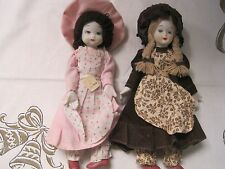 Vintage HP 2  Dolls  White Bisque Face Head Hands Feet wi original tag Taiwan