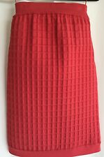 Chanel Coral Square Texture Polyester Strapless Dress Size 36 13S