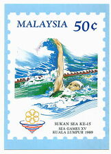 Post card SEA Games XV KL 1989 new