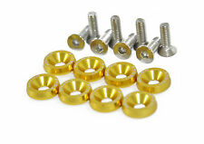 Anodised Aluminium Countersunk Wing Washers With Screws PW JDM Modified Gold