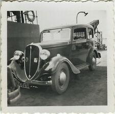 PHOTO ANCIENNE - VINTAGE SNAPSHOT - VOITURE AUTOMOBILE FIAT BAC SEUDRE -CAR 1936