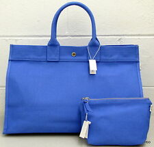 Quilted Koala Tote Purse Handbag Blue East West Bag With Clutch New With Tags