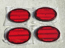 """4 NEW RV CAMPER MOTORHOME TRAILER BUS 52 LED STOP TURN TAIL LIGHT 8"""" OVAL RED"""