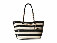 NWT Betsey Johnson Bone & Black Sequin Stripe Tote SOLD OUT EVERYWHERE !!