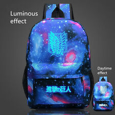 New Attack on Titan Casual luminous Galaxy Backpack School Bag Sack