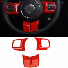 Red Steering Wheel Cover Trim Fit Jeep Wrangler Compass Patriot Grand Cherokee