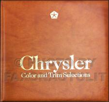 1982 Chrysler Color and Upholstery Dealer Album LeBaron Cordoba New Yorker