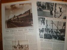 Photo article start of Circus tour season UK 1953