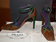 NIB PRADA SUEDE/LEATHER PUMPS SHOES SZ EU 36 US 6 MADE IN ITALY $770