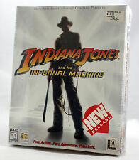 Vintage LucasArts Indiana Jones Infernal Machine +GUIDE Big Box PC Sealed MINT
