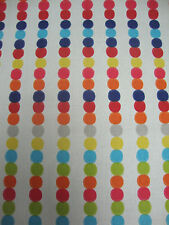 62cm HARLEQUIN Abacus spot cotton curtain fabric remnant  red orange blue green