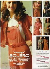 Publicité Advertising 1972 Les Pyjamas Homewear Boléro