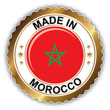 Made In Morocco Golden Label Car Bumper Sticker Decal 5'' x 5''