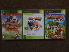 Worms Bundle FORTS/4 MAYHEM/3D (Plays on 360) Complete! SEGA PAL VGC 1-4 Players