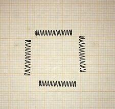4 x Druckfeder, klein, Länge 20mm, Außen Ø3,2mm, Drahtstärke 0,25mm
