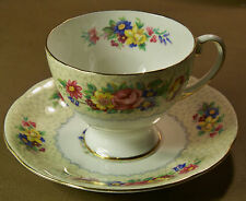 Vintage Royal Standard Footed Tea Cup & Saucer Set  Brussels Lace