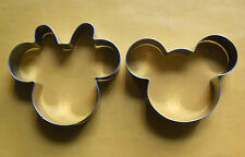 4' Mickey and Minnie Mouse party pastry biscuit metal cookie cutter mold set