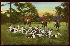 Hunting Horse & Hound Tuck 1128 vintage PPC