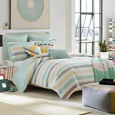 KAS ROOM AUSTRALIA GRETA 3PC SET, 1 QUEEN DUVET COVER, 2 QUEEN SHAMS TEAL YELLOW