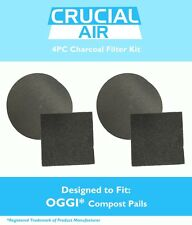 OGGI Compost Pail Charcoal Carbon Filter Kit (4PCS) Fits 7320, 5427, 5448 & 7700