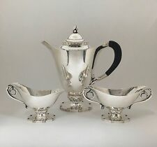 Rare GEORG JENSEN STERLING SILVER TEA COFFEE SERVICE SET 71B JOHAN RHODE