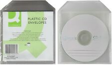 PACK 50 PLASTIC CRYSTAL CLEAR PHOTOS CD DVD ENVELOPES FLAP SLEEVES CASES HOLDERS